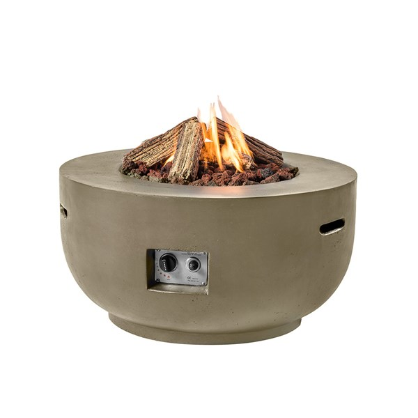 Bowl Cocoon Gas Fire Pit in Taupe