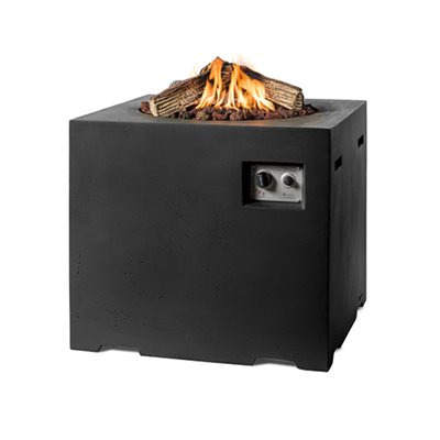 HIGH DINING RECTANGLE COCOON GAS FIRE PIT in Black