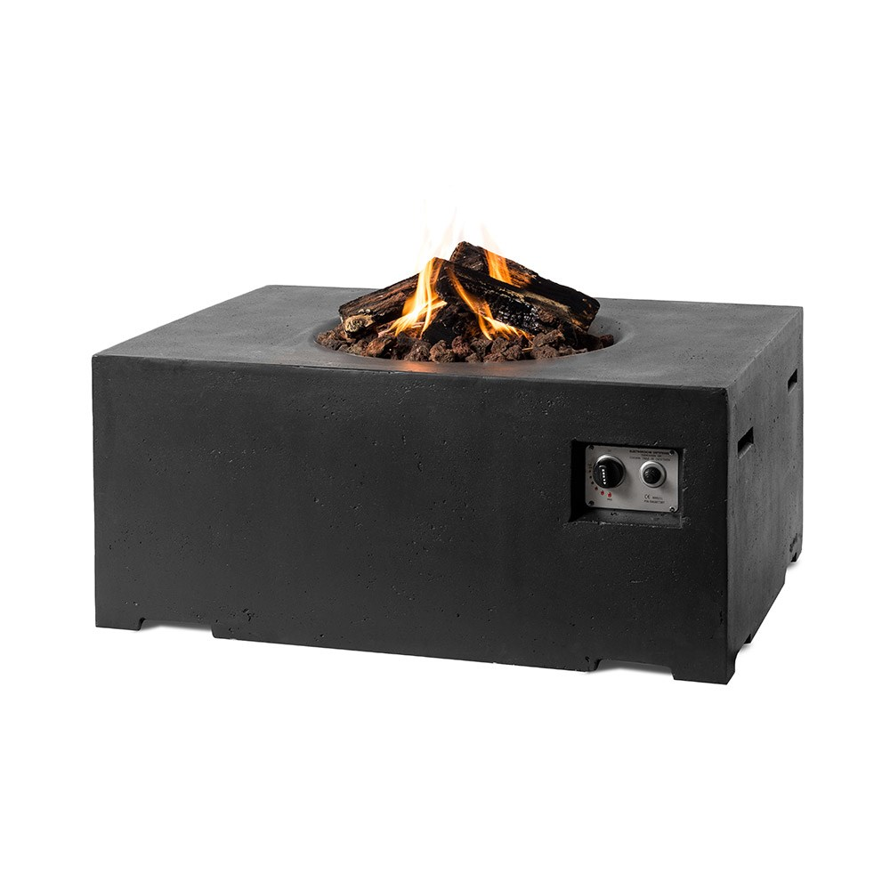 Rectangle Cocoon Gas Fire Pit In Black - Norfolk Leisure ...