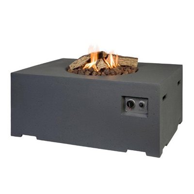 RECTANGLE COCOON GAS FIRE PIT in Grey