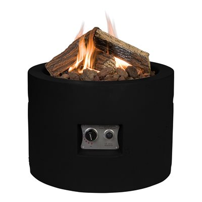 ROUND COCOON GAS FIRE PIT in Black
