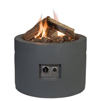 ROUND COCOON GAS FIRE PIT in Grey