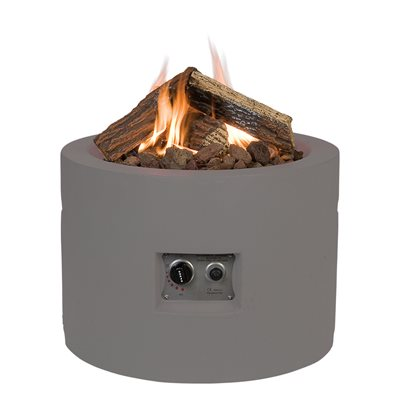 ROUND COCOON GAS FIRE PIT in Taupe