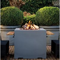 SQUARE COCOON GAS FIRE PIT in Grey