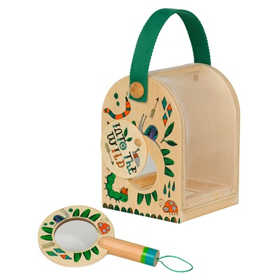 LITTLE THOUGHTFUL GARDENER KIDS BUG COLLECTING BOX & MAGNIFYING GLASS