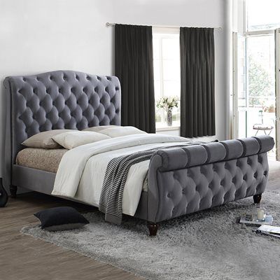 COLORADO UPHOLSTERED BED in Grey by Birlea