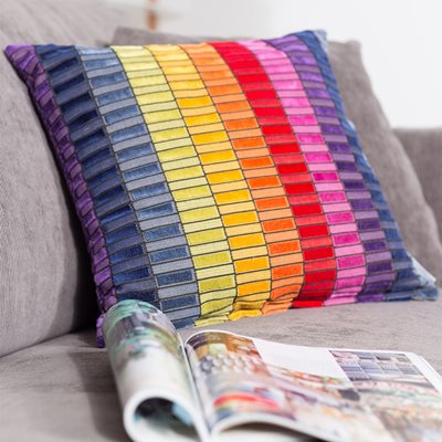 COLOUR BLOCK CUSHION in Multi Colour