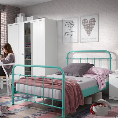 New York Small Double Kids Bed in Mint