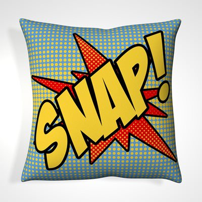 CUSHION in Retro Snap Design