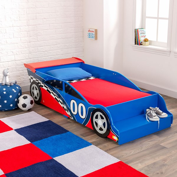 KidKraft Race Car Toddler Bed for Boys & Girls