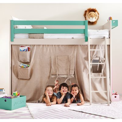 KIDS LISO LOFT BED with Tepee Cover