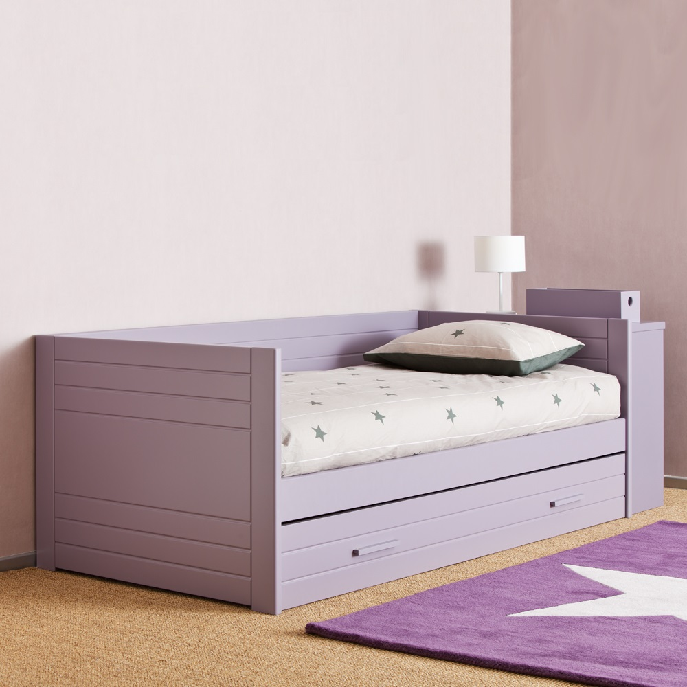 Kids liso bed with trundle drawer childrens beds for Pull out bed