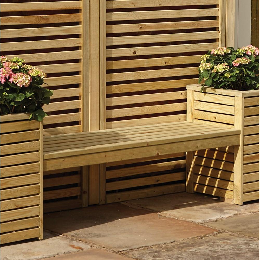 Rowlinson Wooden Garden Bench Amp Planter Set Rowlinson