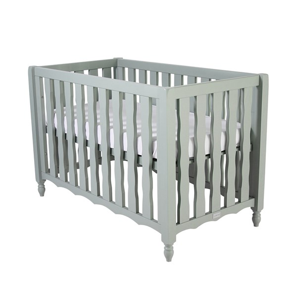 Pebbles Baby Cot in Seagreen