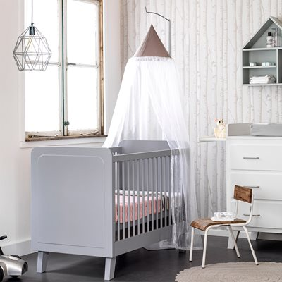 SCANDI BABY COT in Grey
