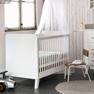 SCANDI BABY COT in White