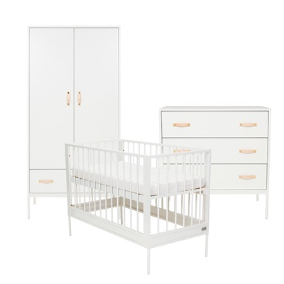 BLISS 3 PIECE NURSERY FURNITURE SET in White