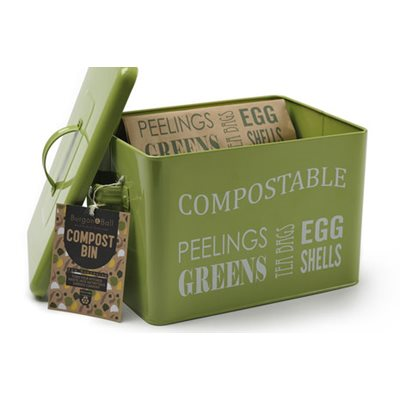 COMPOST BIN In Green by Burgon and Ball
