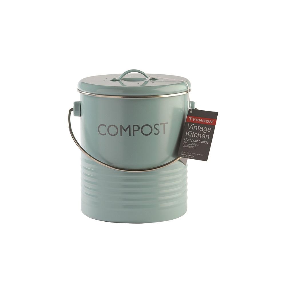 Typhoon Kitchen Compost Bin In Summer House Blue - Rayware   Cuckooland