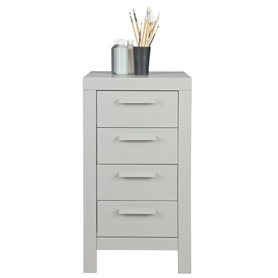 DENNIS NARROW CHEST OF DRAWERS in Concrete Grey