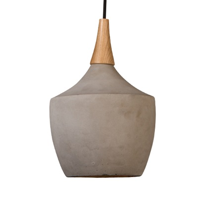 Dutchbone Cradle Concrete Pendant Lamp in Industrial Carafe Design