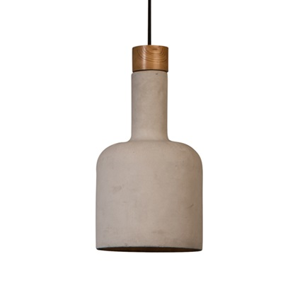 CONCRETE PENDANT LAMP in Industrial Bottle Design