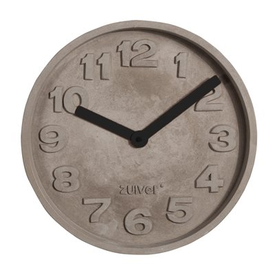 CONCRETE TIME CLOCK with Black Hands