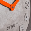 Dutch Brand Wall Clock with 3D Concrete Numbers