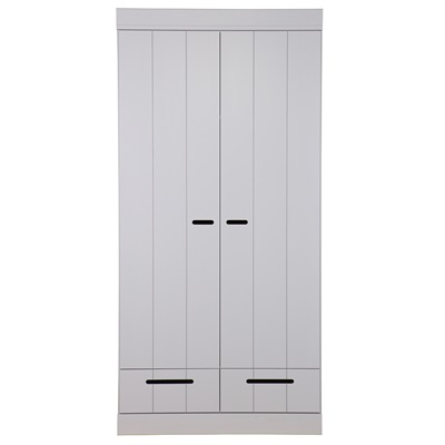 CONNECT Contemporary 2 Door Wardrobe in Concrete Grey