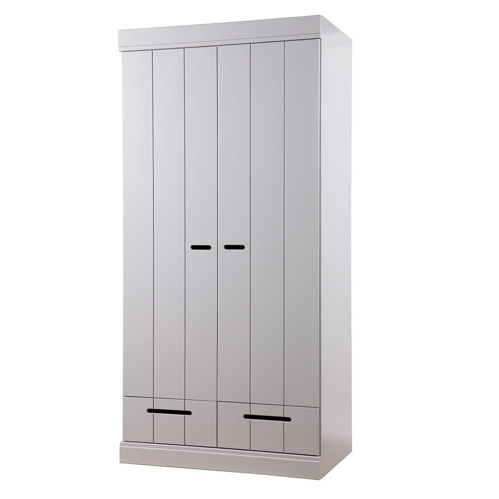 Pine Storage Wardrobe Cabinet With Shelves
