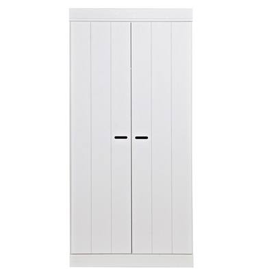 CONNECT Contemporary 2 Door Wardrobe in White by Woood