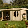 Connor Outdoor Wooden Cabin in Natural Timber