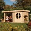 Sturdy Timber Shelter Log Cabin by Rowlinson