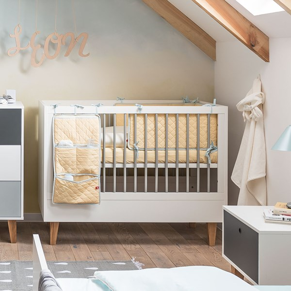 Vox Concept Baby Cot in White and Oak