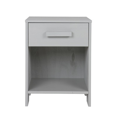 Dennis Kids Bedside Table with Drawer in Concrete Grey by Woood
