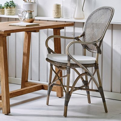 SIKA STACKABLE RATTAN ROSSINI DINING CHAIR in Taupe