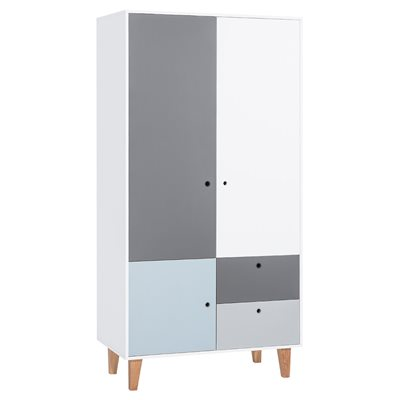 Vox Concept 2 Door Wardrobe in Grey & Blue