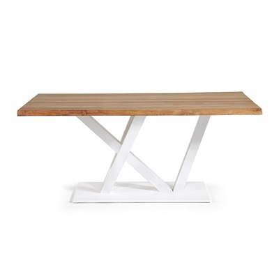 UVE LARGE DINING TABLE in White & Oak