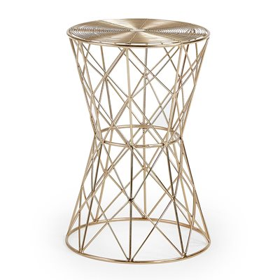 IONE SMALL BRASS SIDE TABLE