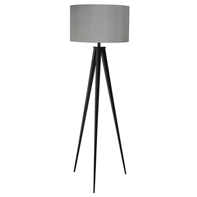 TRIPOD FLOOR LAMP in Black & Grey