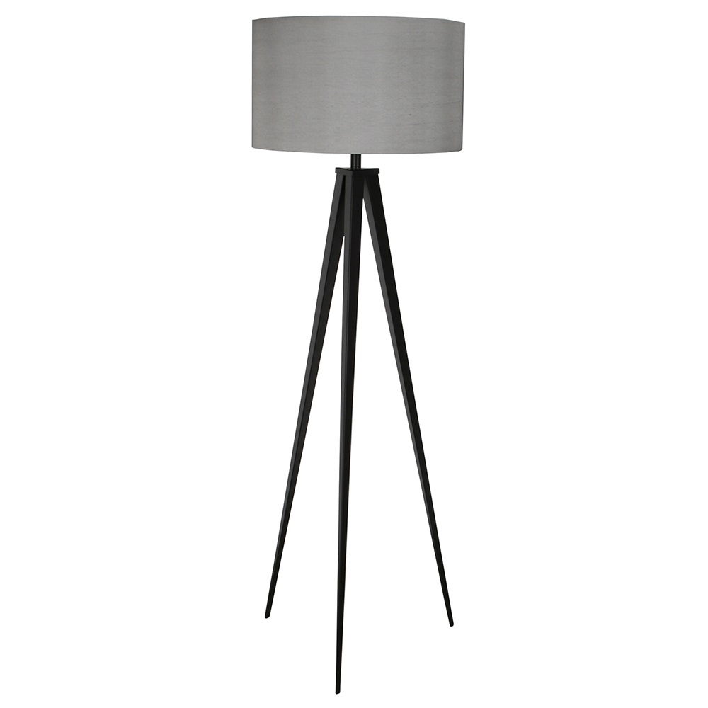 Zuiver floor lamp in black grey zuiver cuckooland contemporary tripod floor lamp greyg aloadofball Gallery