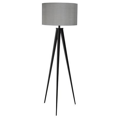 Contemporary Tripod Floor Lamp Grey ...