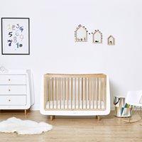 Snuzkot Skandi 2 Piece Nursery Furniture Set - Skandi Grey