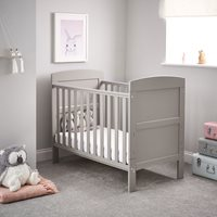 Obaby Grace Mini Cot Bed in Warm Grey