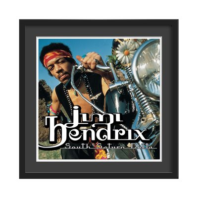 JIMI HENDRIX FRAMED ALBUM WALL ART in South Saturn Delta Print