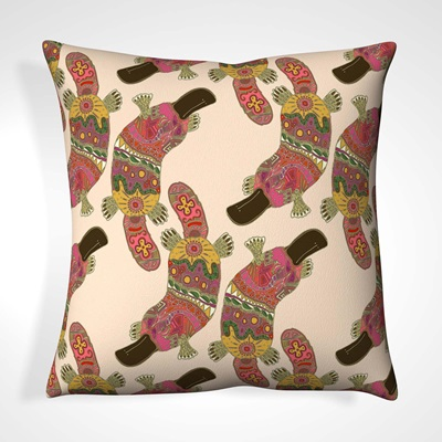 CUSHION in Patterned Platypus Design