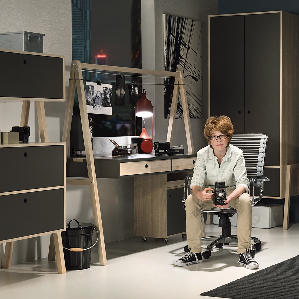 Vox Spot Two Sided Desk In Acacia Vox Cuckooland