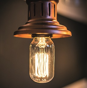 VINTAGE LIGHT BULB in Squirrel Cage Shape