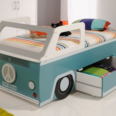Single Bed With Storage Part - 29: Kids Single Beds With Storage Gifts For Children Kids Beds Kids Cool Wagon  Bed With Storage | Decorate My House