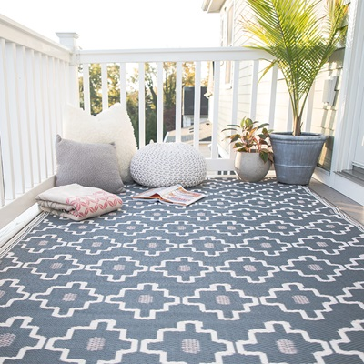 FAB HAB COPENHAGEN OUTDOOR RUG in Grey
